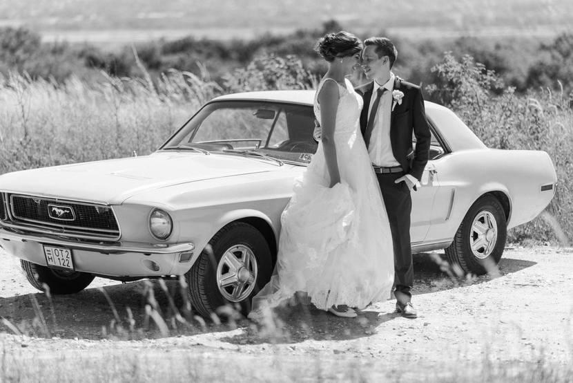 fekete-fehér esküvői fotó